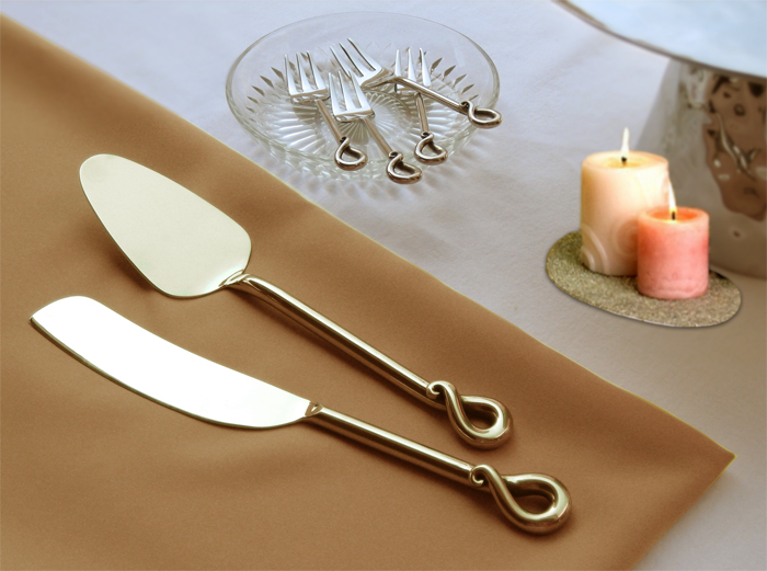 Cake server and knife S